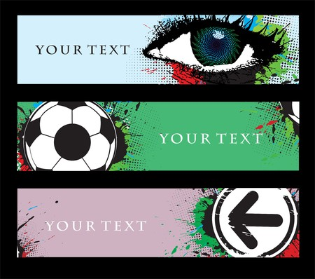 third eye: Abstract banners on different themes