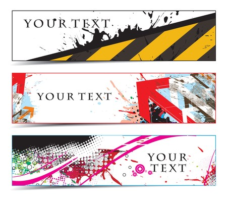 Abstract banners on construction themes  Vector