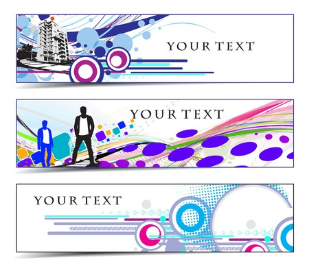Abstract banners on urban themes. Vector