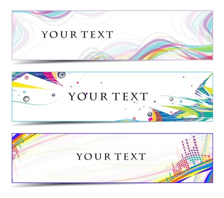 Abstract banners on colorfull themes Stock Vector - 7335922