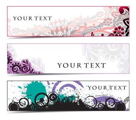 Abstract banners on grunge themes  Vector