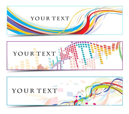 Abstract banners on colorfull themes  Vector