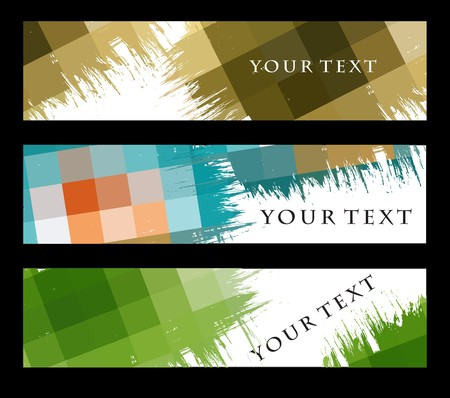 Abstract banners on different themes, multi-coloured illustration. Vector