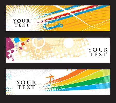 Abstract banners on different-2 colorfull themes  Vector