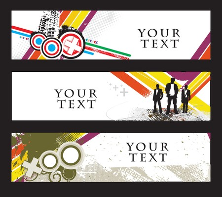 Abstract banners on different themes Stock Vector - 7335961