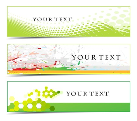 Abstract banners on different themes  Vector