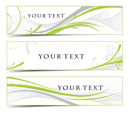 Abstract banners on different themes Vetores
