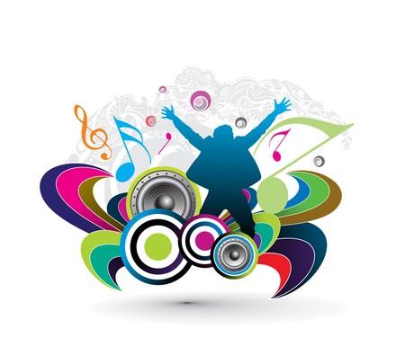 music theme Stock Vector - 7599271