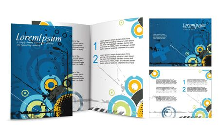 mag: brochure design for night club,  illustartion.