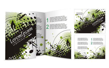 mag: conception de la brochure de bo�te de nuit, illustartion.