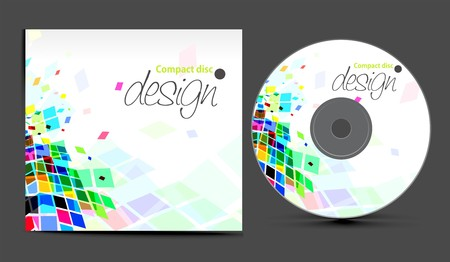 text box design:  cd cover design template with copy space,  illustration