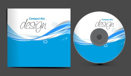 cd cover design template with copy space,  illustration Stock Vector - 7391259