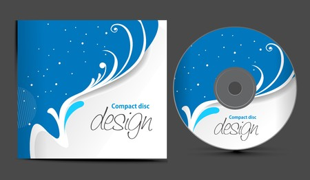 cover:  cd cover design template with copy space, illustration