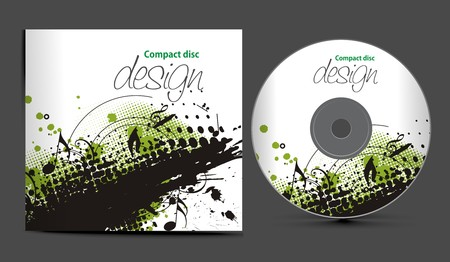 compact disc:  cd cover design template with copy space,  illustration