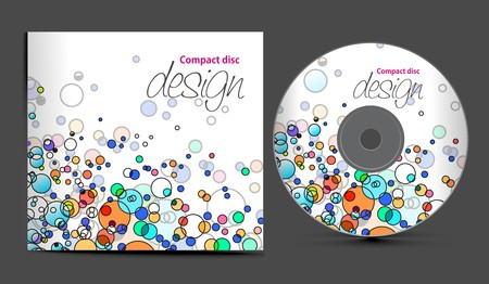 cd cover design template with copy space,  illustration Stock Vector - 7391309
