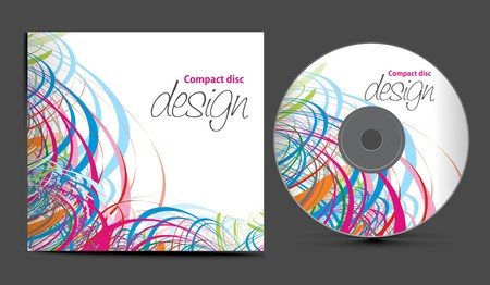 technology cover: cd cover design template with copy space,  illustration