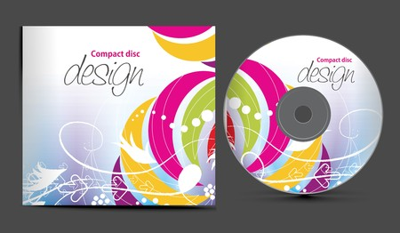 disk:  cd cover design template with copy space,  illustration