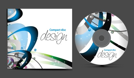 cd cover design template with copy space, illustration Stock Vector - 7391263