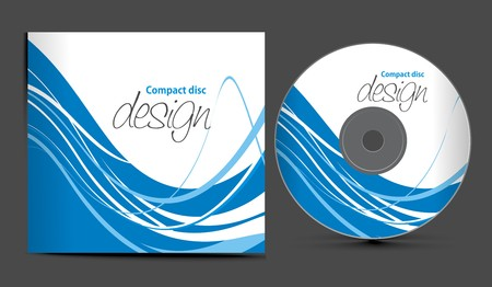cd cover design template with copy space, illustration