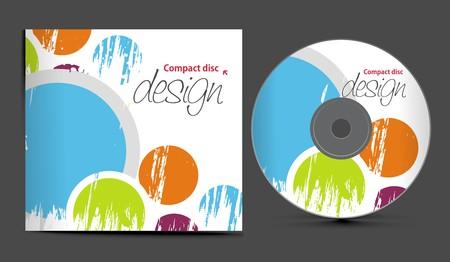 plantilla de diseño de portada de CD con espacio de copia, ilustración