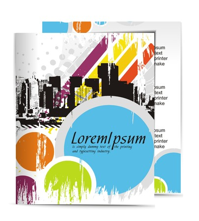 Template designs of menu with best used of your flyer project, illustration Stock Vector - 7391327