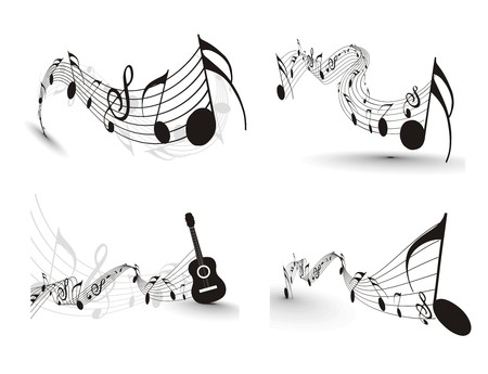 trill: Music notes for design use,  illustration