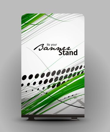 a roll up display with stand banner template design Stock Vector - 7554580