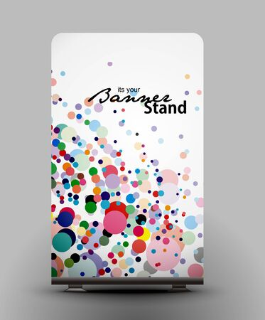 a roll up display with stand banner template design Stock Vector - 7554531
