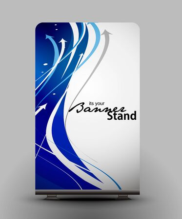 a roll up display with stand banner template design Stock Vector - 7554368