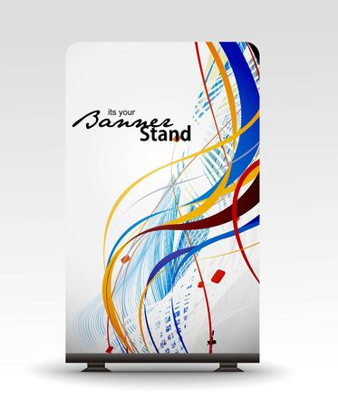 index card: a roll up display with stand banner template design
