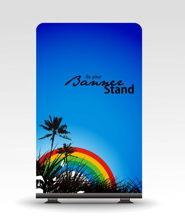 rolup: a roll up display with stand banner template design