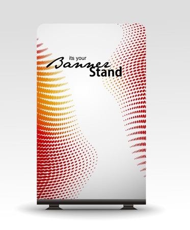 a roll up display with stand banner template design Stock Vector - 7554534