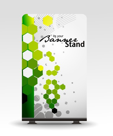 adverts: a roll up display with stand banner template design