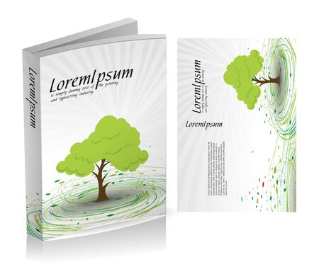 cover book: book cover design isolated over colorful background Illustration