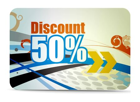 Discount card templates Stock Vector - 7639216
