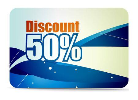 Discount card templates Stock Vector - 7639177