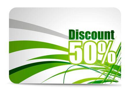 Discount card templates Vector