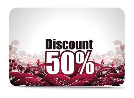 Discount card templates Stock Vector - 7639219