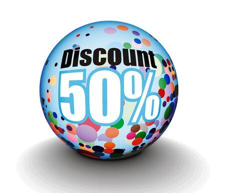 3d sphere sale design, design. Stock Vector - 8055153