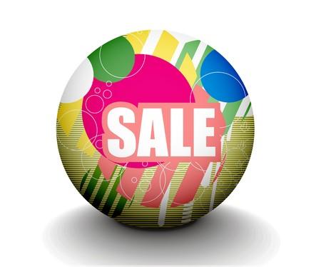 3d sphere sale design, design. Stock Vector - 8055071