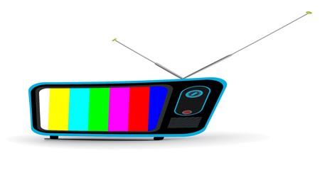 Retro television icon, illustration. Stock Illustration - 8113091