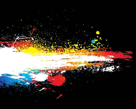 blood smear: abstract grunge brushes design, illustration.