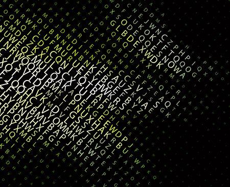 Digital program code,  illustration.  Vector