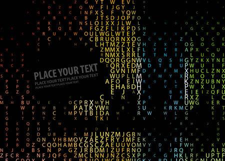 terra: Digital program code,   illustration.  Illustration