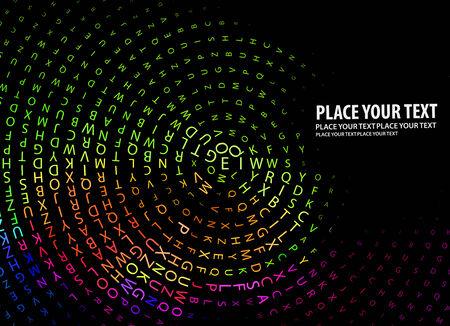 terra: Digital program code,  illustration.