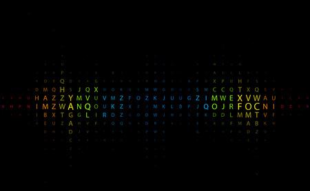 Digital program code,   illustration.  Stock Vector - 8113553