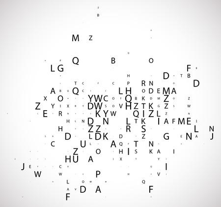 Code de programme numérique, illustration.
