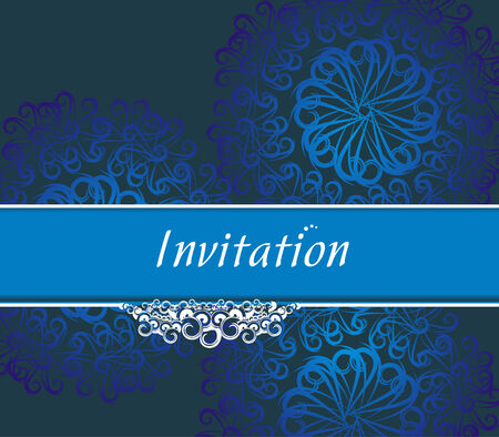 design for party invitation card, Just place your own texts and titles.  Vector