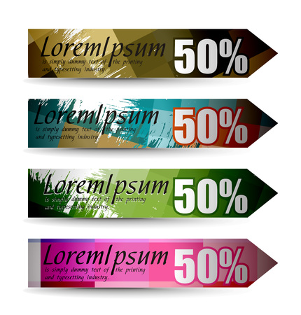 Abstract discount banners on different themes, multi-colored, illustration.  Stock Vector - 8113736