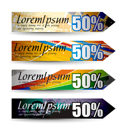 Abstract discount banners on different themes, multi-colored,   illustration. Stock Vector - 8113709